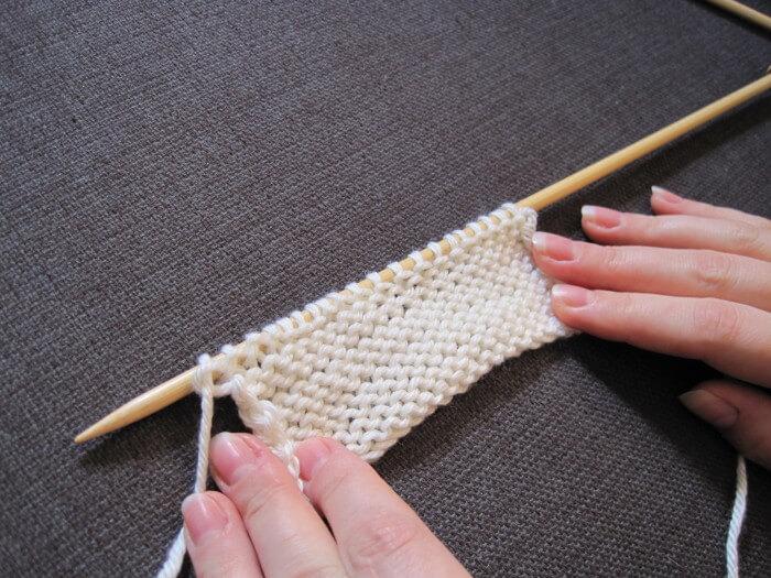 Фото вязания изнаночными петлями