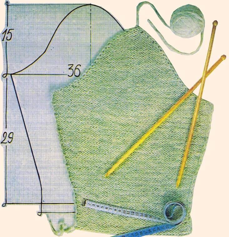 вязание проймы рукава спицами вязание оката рукава расчеты